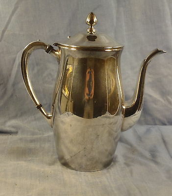 Poole Silver Authentic Reproduction Coffee Pot w/ hinged lid 527 EPC