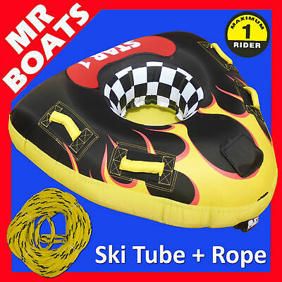 "SKI TUBE LARGE 53 Inch 135cm TRIANGULAR + TOW ROPE "" STAR 1 "" WATER SKI BISCUIT"