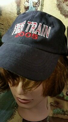 Vintage Fire train hat adjustable dupont cool max lining railroad port authority