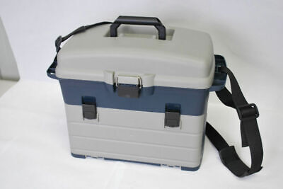 NEW HEAVY DUTY FISHING TACKLE/TOOL BOX Incl 3 removable Trays Shoulder Strap 320