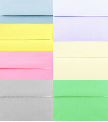 Pastel Envelopes A1 A2 A6 A7 for Invitations Responses White Blue Pink Gray More