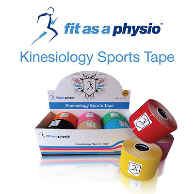 Kinesiology Sports Strapping Tape - 6 Mixed Rolls