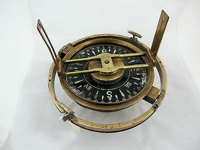 French Gymballed Compass By B.b.t. Doignon, C 1920's