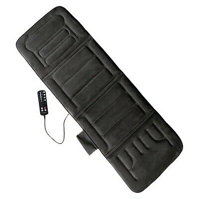 Comfort Products 10-Motor Massage Mat with Heat - Charcoal