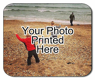 Photo Personalised Fabric Mouse Mat! Christmas Birthday Office! FREE POSTAGE!!