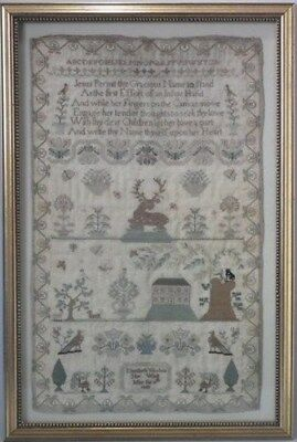 1823 House Sampler by Elizabeth Woolvin
