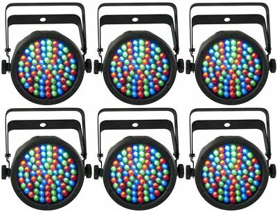 Set of (6) Chauvet DJ SLIMPAR 38 3/7 Channel LED Par Can Stage Lights SLIM PAR