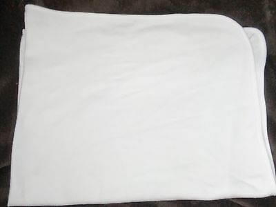 Carters Baby Blanket Solid White Cotton Stretch Receiving Os Fine Thermal Weave