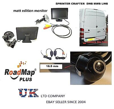 mercedes sprinter vw crafter wireless rear reverse parking camera 5 inch monitor