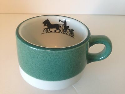vintage shenango horse silhouette coffee cup by interpace
