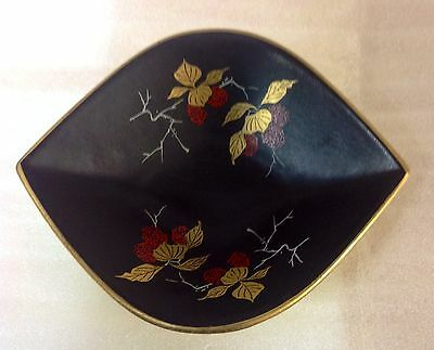 VINTAGE GERMAN BLACK/YELLOW CANDY/NUT DISH 238/24