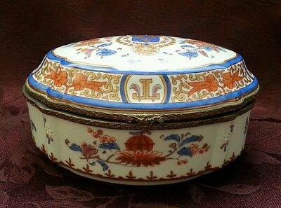Hand Painted Porcelain Jewelry Box