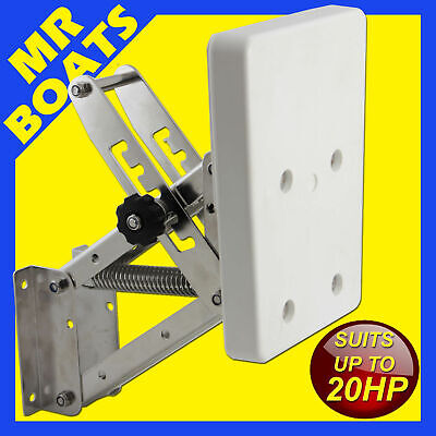 S/S AUXILIARY OUTBOARD BRACKET -FULLY ADJUSTABLE- MOTOR <20HP or 55KGS BRAND NEW
