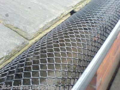 GUTTER GUARD MESH NO BLOCKED LEAVES GUTTERS GUTTERING 16cm Height 10M PACK NEW