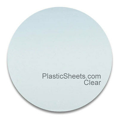 Clear Acrylic Discs, Polished Perspex Discs 2Mm Thick Cut To Size 100Mm - 900Mm