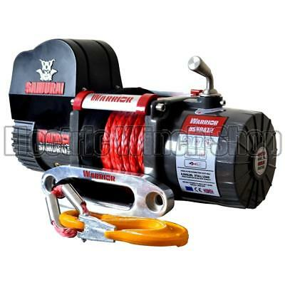 Electric Winch Warrior Samurai 9500lb 12v Short Drum Synthetic Rope Wireless
