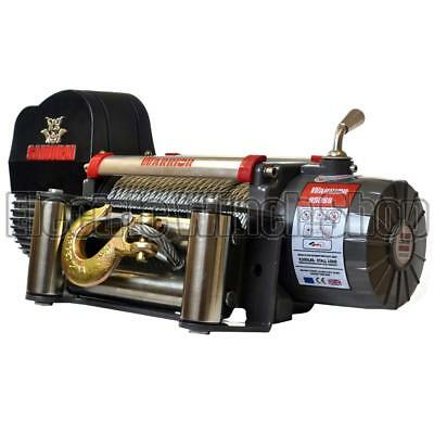 Electric Winch Warrior Samurai 9500lb 24v Steel Rope Long Warranty 24 Volt
