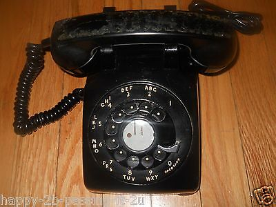 Black Vintage YEAR1958 By Western Electric Rotary Dial Telephone Phone