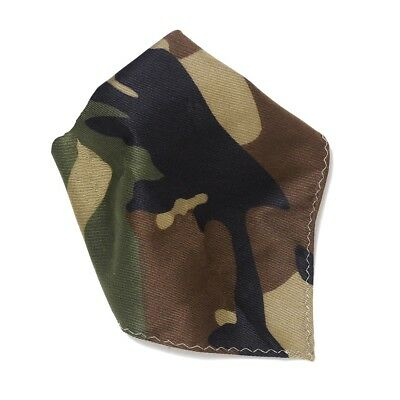 Camouflage Pattern Army Green Hankerchief Pocket Square Hanky Mens Handkerchiefs