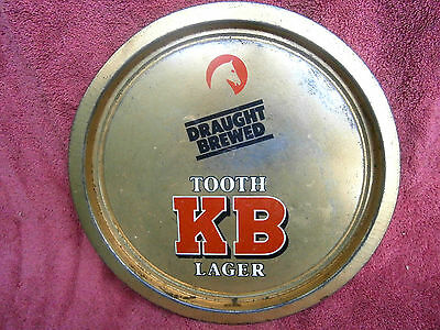 VINTAGE  &  SCARSE  TOOTH  KB  LAGER  TIN  TRAY