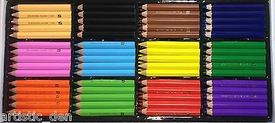 Kids Jumbo Stubby Colouring Pencils School Pencil Pkt of 120 Kids Kindy Pencils