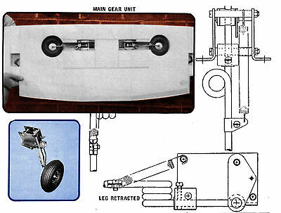 Model Airplane Article and plan to make your own RETRACTABLE Landing GEAR