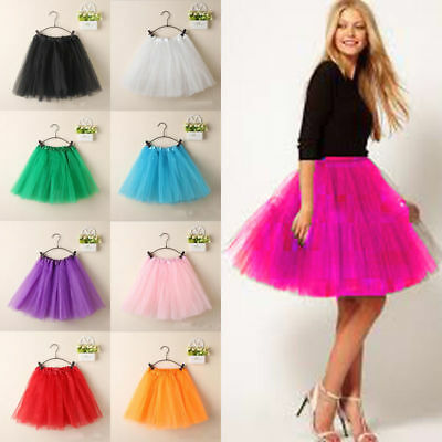 Candy Color Womens/Adult 3 Layer Tutu Dancewear Party Ballet Pettiskirt Skirt