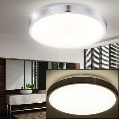 led design decken wohnzimmer lampe flur bad leuchte eckig 25x25 cm glas licht eur 36 50. Black Bedroom Furniture Sets. Home Design Ideas