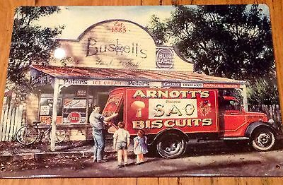 Arnotts Bushells Metal Tin Sign Plaque Advertising Kitchen Rosella Also Listed