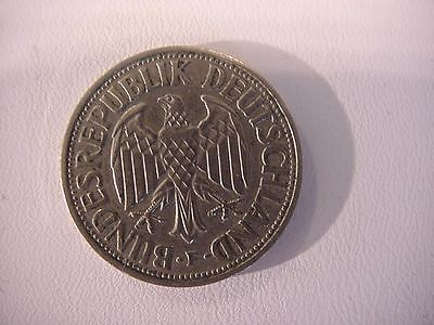 Top Antique German Coin Deutsche Mark 1 DM 1956 F Fine Rare