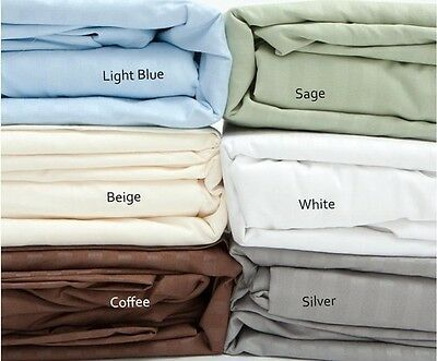 Fine 400 Thread Count 100% Cotton Sateen Bed Sheet Dobby Stripe