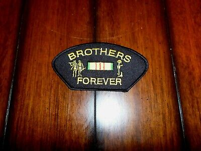 U.S MILITARY VIETNAM BROTHERS FOREVER HAT PATCH. VIETNAM SERVICE RIBBON