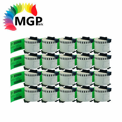 20 Compatible for Brother DK-22205 Continuous Green Roll -62mm x 30.48m QL570