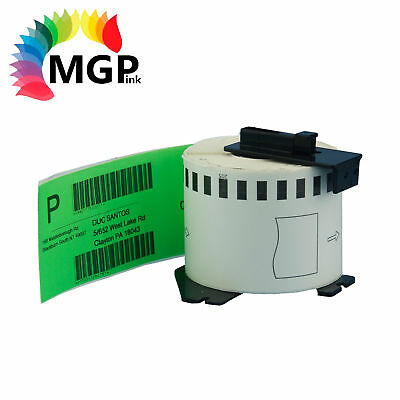 1 Compatible for Brother DK-22205 Continuous Green Roll -62mm x 30.48m QL570