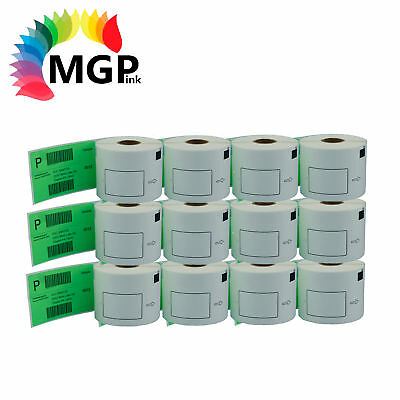 12 Refill only Compatible for Brother DK-22205 Continuous Green Roll 62mmx30.48m