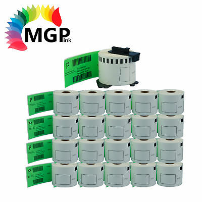 20+1 Compatible for Brother DK-22205 Continuous Green Roll 62mm x 30.48m QL570