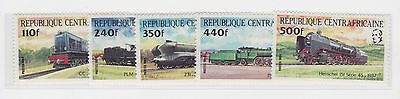 Rep. Centrafricana 1984 Trains/Treni stamps