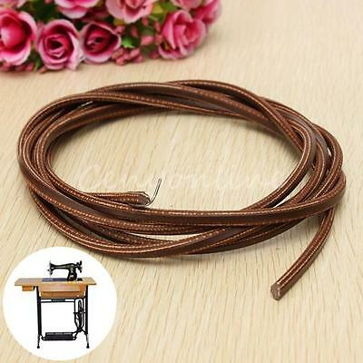 "71"" 3/16"" Leather Belt Treadle Parts with Hook for Singer/Jones Sewing Machine"