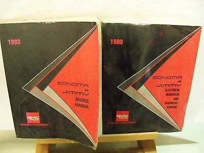 1993 GMC SONOMA & JIMMY SERVICE/ELECTRICAL DIAGRAMS FACTORY SERVICE MANUALS