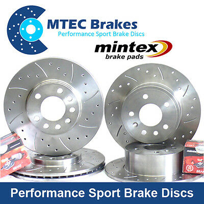 Mini R55 R56 280mm front Option Front Rear Drilled Brake Discs & Mintex Pads