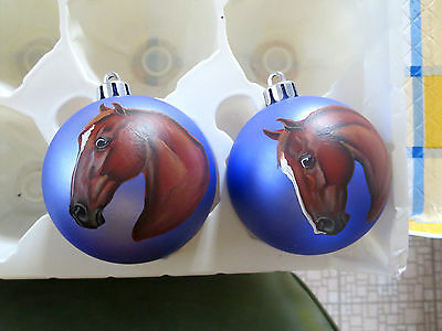 American Saddlebred 2 Horses Hand Painted On Ornaments