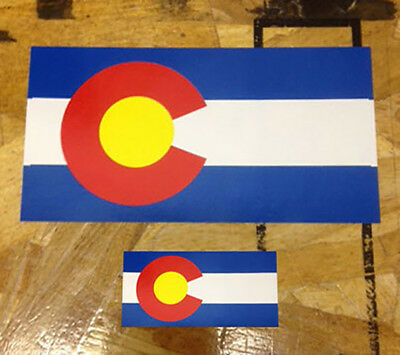 CO Colorado State Flag Sticker decal 3 for 1