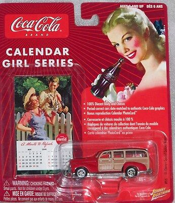 CocaCola Johnny Lightning Calendar Girl Series #11   '41 Chevy Wagon 1:64  scale