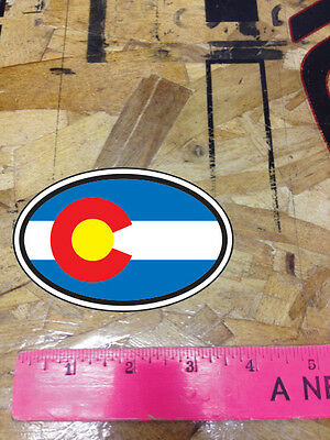 CO Colorado State Flag Sticker Oval decal 2 for 1