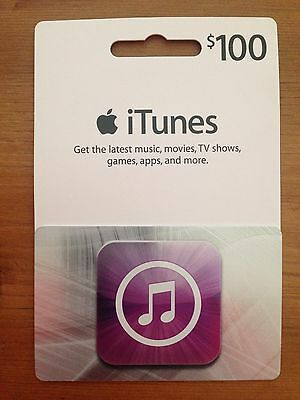 Apple iTunes Gift Card - $100 value