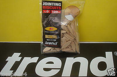 100 X Size 0 Trend Wooden Jointing Dowels Biscuits  Bsc/0/100