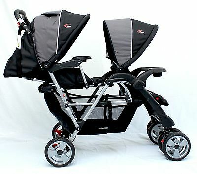 Brand New Mamakiddies Tandem Stroller Pram Twin New Born Toddler Baby Jogger