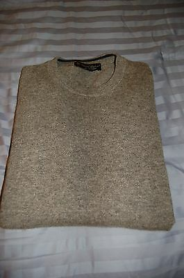 Daniel Bishop Men's 100% Cashmere Solid Gray Sweater, Size L - Used