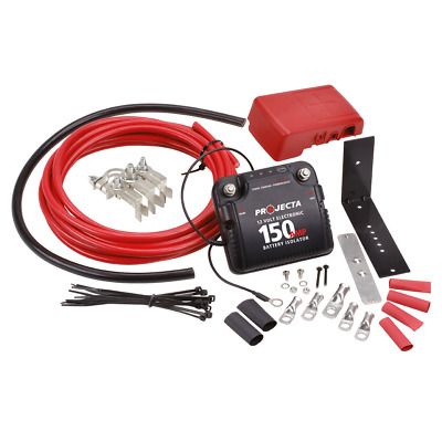 Projecta Dual Battery Kit 12V 150A Electronic Isolator Fully Automatic Dbc150K