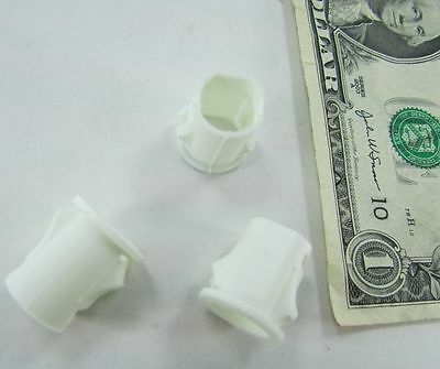 """Lot 100 White Snap-In Wire Cable Bushings, 1/2"""" OD x 7/16"""" ID x .60 Long Sleeves"""